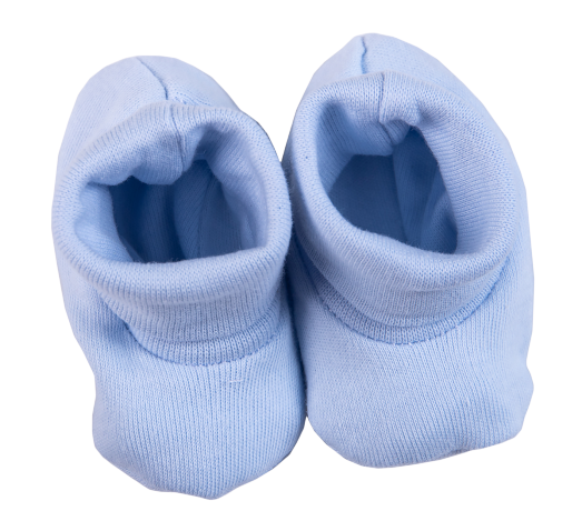Baby Ribbed Shoes Blue