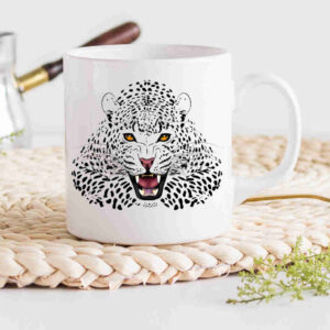 Leopard Crouching Coffee Cup