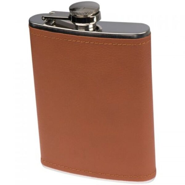 Hip Flask with Leatherette Finish