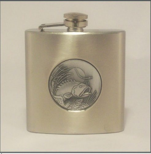 Hip Flask with Fish Insert