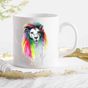 Watercolour Lion Coffee Cup