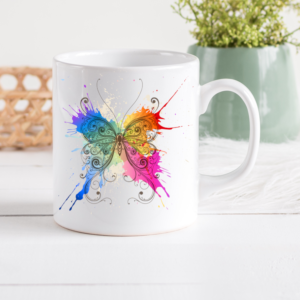 Watercolour Butterfly Coffee Cup