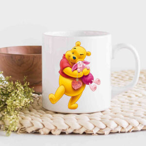 Winnie and Piglet Making Sure Coffee Cup Image