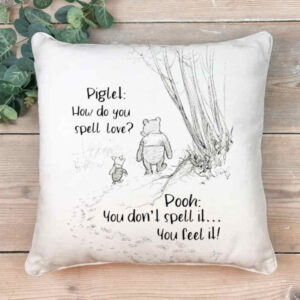 Winnie the Pooh Spell Love Scatter Cushion